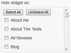 templatetoaster wordpress theme widget options hide widget on specific pages